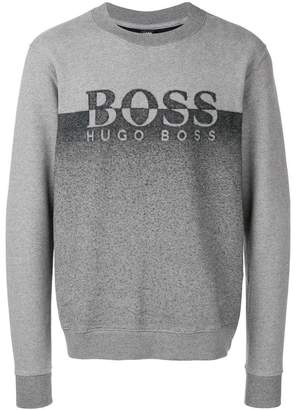 HUGO BOSS crew neck logo jumper