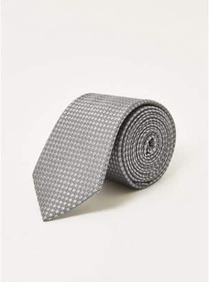Topman Mens Grey Gray Silk Tie
