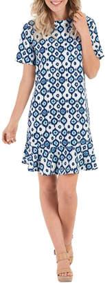 Mud Pie Navy Ikat Dress $60 thestylecure.com