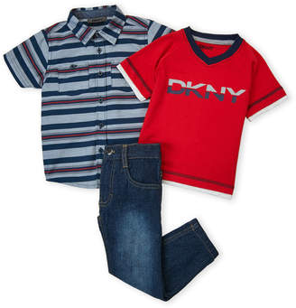 DKNY Toddler Boys) 3-Piece Jeans Set