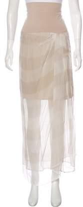 Brunello Cucinelli Striped Maxi Skirt