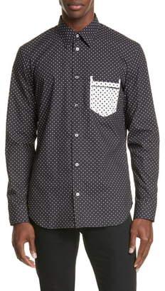 Maison Margiela Micro Polka Dot Button-Up Shirt
