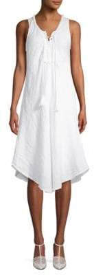 Saks Fifth Avenue Lace-Up Linen Knee-Length Dress