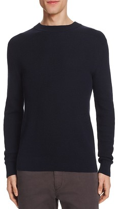 Theory Hilbet Ribbed Cotton Sweater $195 thestylecure.com