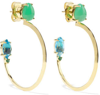 Ippolita Prisma 18-karat Gold Multi-stone Hoop Earrings
