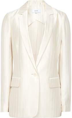 Reiss Lilea Jacket - Striped Blazer in Champagne