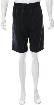 Alexander Wang Virgin Wool-Blend Flat Front Shorts