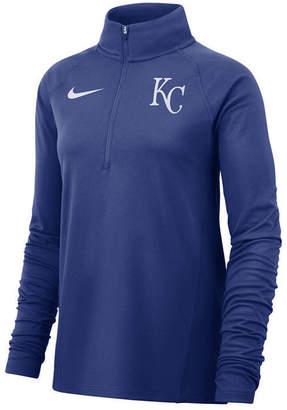 Nike Women Kansas City Royals Half-Zip Element Pullover