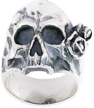 Maison Recuerdo skull rose ring