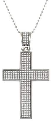 1913 Steel Reinforcements Cubic Zirconia Stainless Steel Cross Pendant