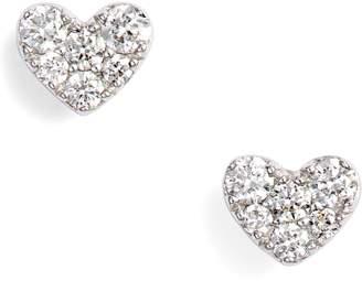 Bony Levy Diamond Pave Heart Stud Earrings
