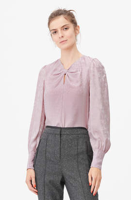 Rebecca Taylor Tailored Mixed Silk Jacquard Top