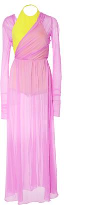 Emilio Pucci Long Sleeve Built-in Bodysuit Maxi Dress $1,850 thestylecure.com