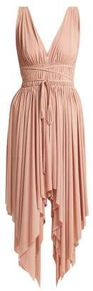 Norma Kamali Goddess Knee Length Dress - Womens - Light Pink