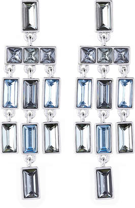 Vince Camuto Rhodium-Tone & Blue Gem Drops Chandelier Earrings