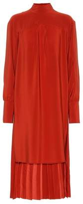 Chloé Mockneck silk dress