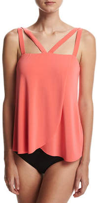 Magicsuit Michelle Solid Tankini Swim Top $110 thestylecure.com