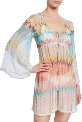 Missoni Mare Knit Zigzag Short Coverup