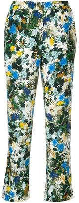 Erdem floral print cropped trousers