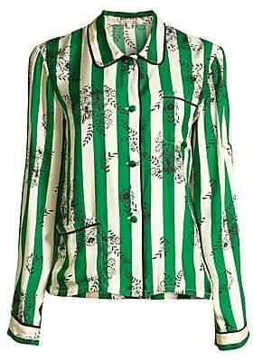 Morgan Lane Women's Ruthie Striped Floral Pajama Top