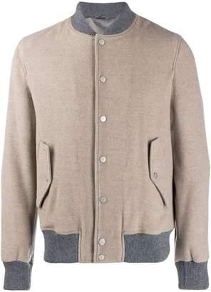 Eleventy contrast trimmed bomber jacket