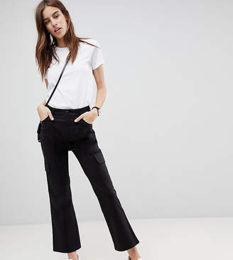 Asos DESIGN kick flare stretch pants with combat pockets
