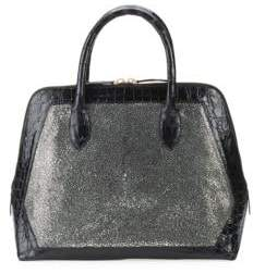 Nancy Gonzalez Medium Leather Top Handle Bag