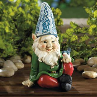 Zingz & Thingz Cheery Gnome Solar Statue