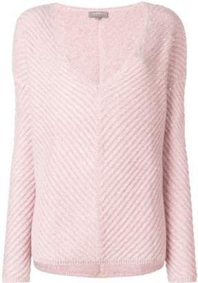 N.Peal sequin-embellished basketweave sweater
