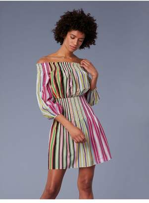 Diane von Furstenberg Off-The-Shoulder Mini Dress