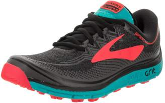 Brooks Women's PureGrit 6 Running Shoe (BRK-120248 1B 3888570 8 014 Black/Ebony/Pink)