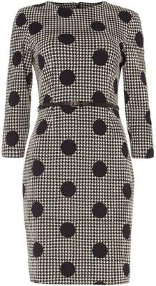 Phase Eight Spot Jacquard Dress