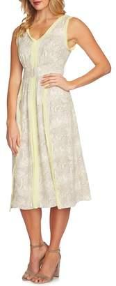 Cynthia Steffe CeCe by Canyon V-Neck Chiffon Dress