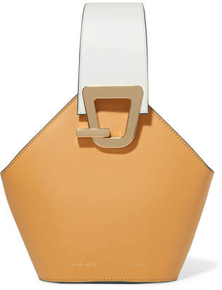 BEIGE Danse Lente - Johnny Mini Smooth And Textured-leather Bucket Bag