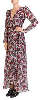 The Kooples Floral-Print Wrap Maxi Dress