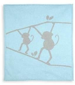 Lucky Jade Baby's Cashmere-Blend Monkey Blanket