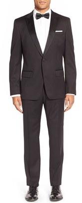 Men's Boss Trim Fit Wool Tuxedo $1,095 thestylecure.com
