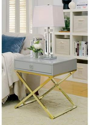 Furniture of America Ferina Contemporary Side Table, Multiple Colors