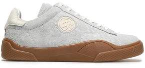 Eytys Wave Calf Hair-trimmed Suede Sneakers