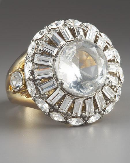 ABS by Allen Schwartz Round-Cut Crystal Ring