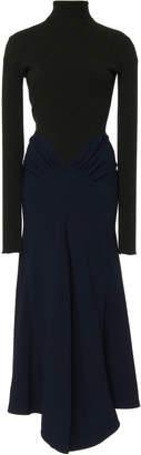 Victoria Beckham Draped Knit Long Sleeve Midi Dress Size: 8