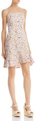 Aqua Floral Flounce-Hem Slip Dress - 100% Exclusive
