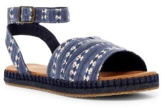 Toms Malea Batik Stripe Ankle Strap Sandal (Little Kid & Big Kid)