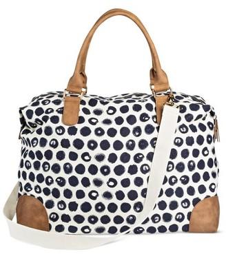 Merona Women's Canvas Weekender Handbag $34.99 thestylecure.com