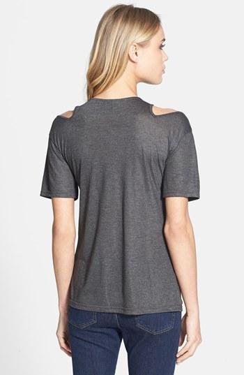 Topshop Shoulder Cutout Top