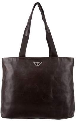 abc031b8d98f ... cheap pre owned at therealreal prada nappa leather tote bag 07f6a d310e