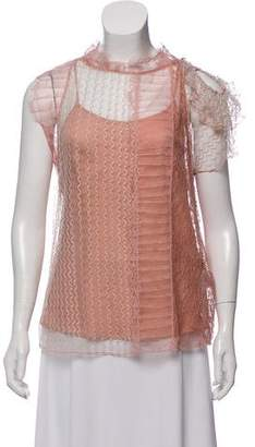 3.1 Phillip Lim Chantilly Lace Draped Blouse w/ Tags