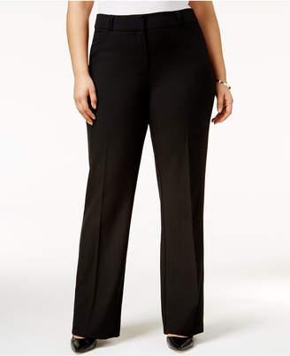 Alfani Plus Size Straight-Leg Trousers, Created for Macy's