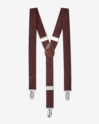 Express Burgundy Suspenders