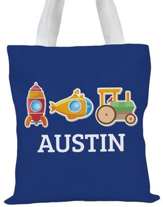 "Monogram Online My Little Working Man Custom Kids Tote Bag, Sizes 11"" x 11.75"" and 15"" x 16.25"""